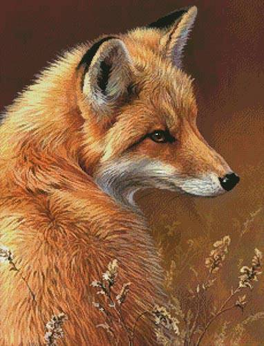 cross stitch pattern Red Fox Profile