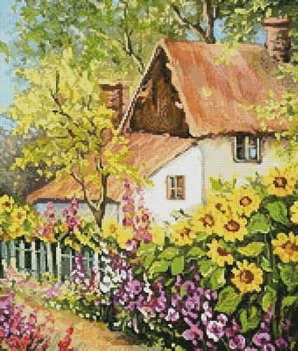 cross stitch pattern Summer Garden (Crop)