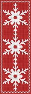 cross stitch pattern Snowflake Bookmark 3