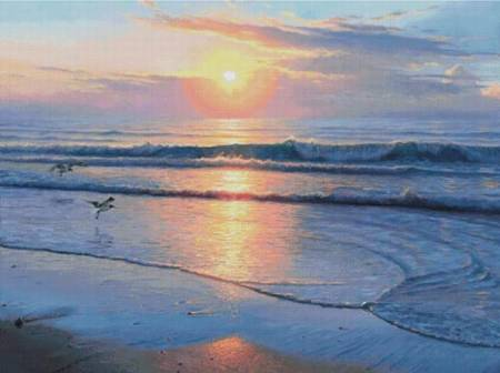 cross stitch pattern Serenity Beach (Large)