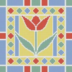 cross stitch pattern Stained Glass Square 6