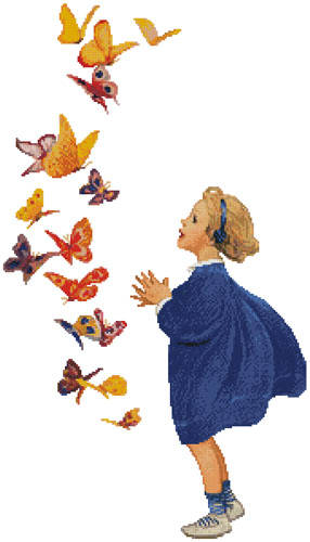 cross stitch pattern The Butterflies (Large)