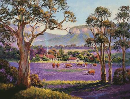cross stitch pattern The Purple Paddock
