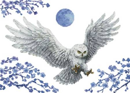 cross stitch pattern White Owl (No Background)
