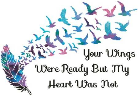 cross stitch pattern Your Wings (Watercolour 2)