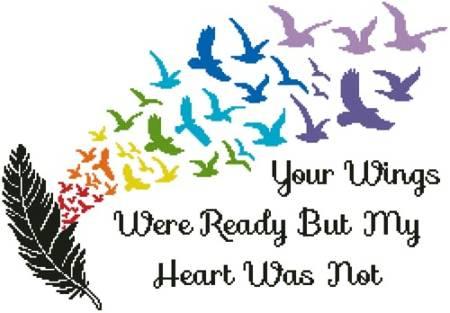 cross stitch pattern Your Wings (Rainbow 2)