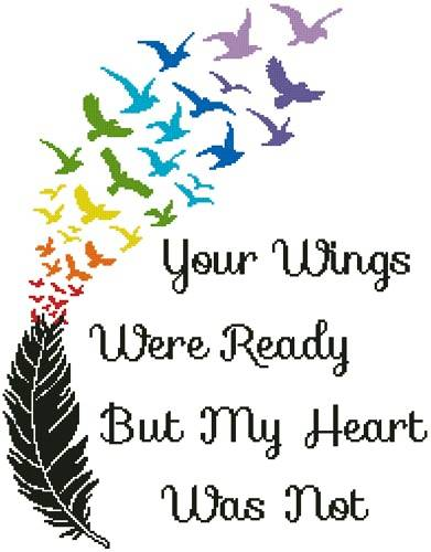cross stitch pattern Your Wings (Rainbow)