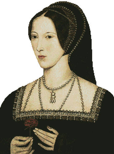 cross stitch pattern Anne Boleyn (No Background)