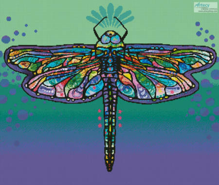 cross stitch pattern Abstract Dragonfly