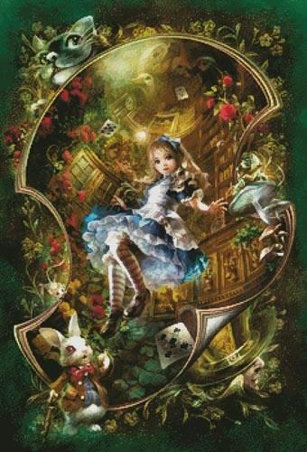 cross stitch pattern Dear Alice