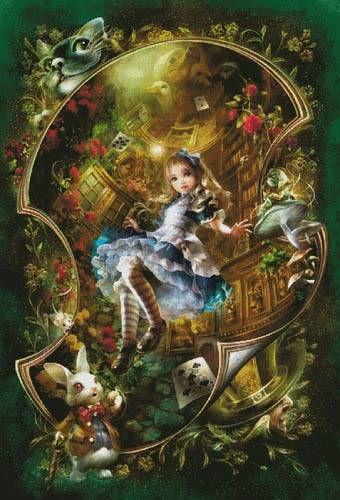 cross stitch pattern Dear Alice (Large)
