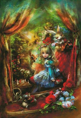 cross stitch pattern Alice Locomotion