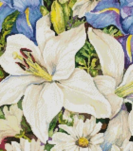 cross stitch pattern A Blue and White Mix (Crop)