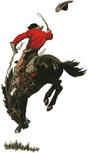 cross stitch pattern Bucking Bronco