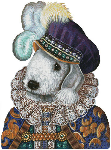 cross stitch pattern Bedlington Prince