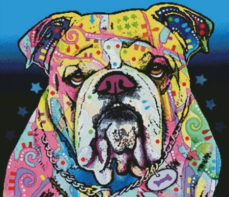 cross stitch pattern The Bulldog