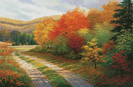 cross stitch pattern A Bend in the Road