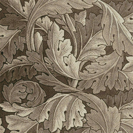 cross stitch pattern Brown/Beige Acanthus