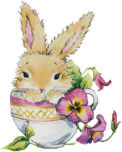 cross stitch pattern Bunny Cup