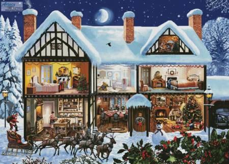 cross stitch pattern Christmas House 3 (Large)