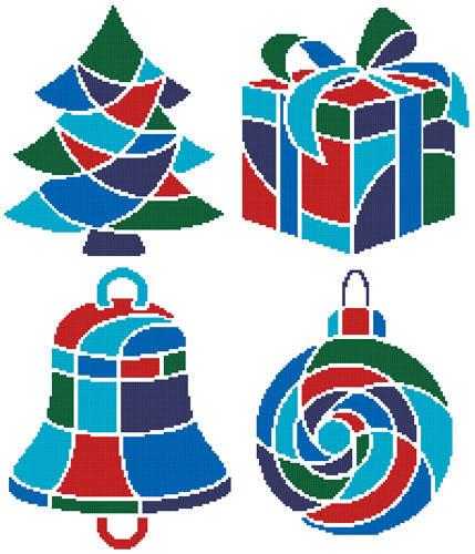 cross stitch pattern Christmas Icons 1