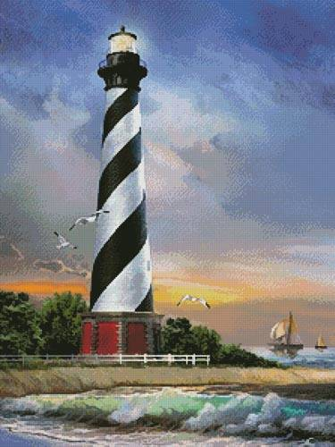 cross stitch pattern Cape Hatteras Lighthouse