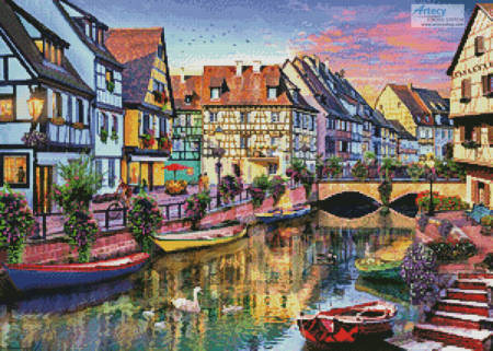 cross stitch pattern Colmar Canal