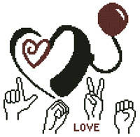 cross stitch pattern Cochlear Love
