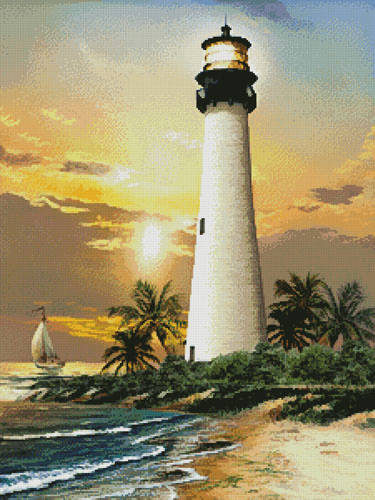 cross stitch pattern Cape Florida Lighthouse