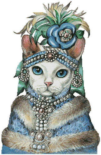cross stitch pattern Devon Rex Mademoiselle
