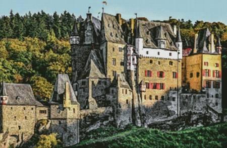 cross stitch pattern Eltz Castle