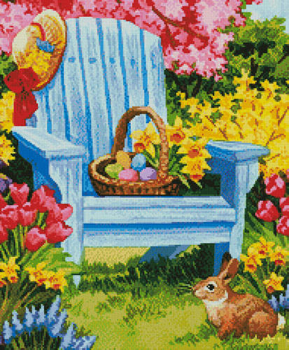 cross stitch pattern Easter Morning (Crop)