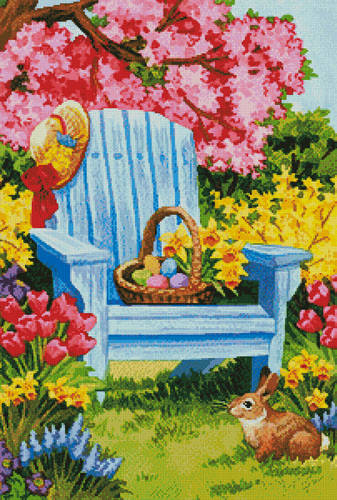 cross stitch pattern Easter Morning