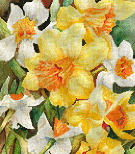 cross stitch pattern Early Spring Flowers (Crop)