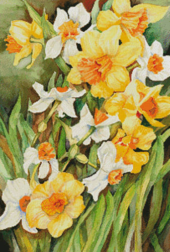 cross stitch pattern Early Spring Flowers