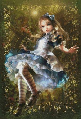 cross stitch pattern Floating Alice (Large)