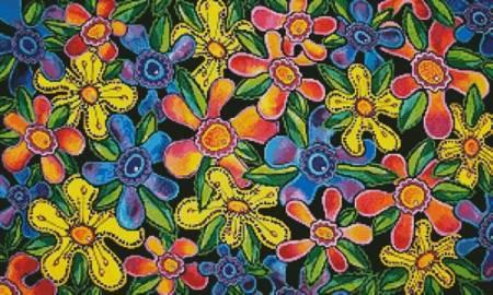 cross stitch pattern Funky Flowers