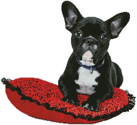cross stitch pattern French Bulldog
