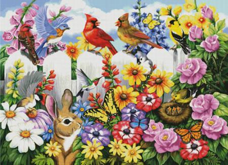 cross stitch pattern Garden Gossip (Large)