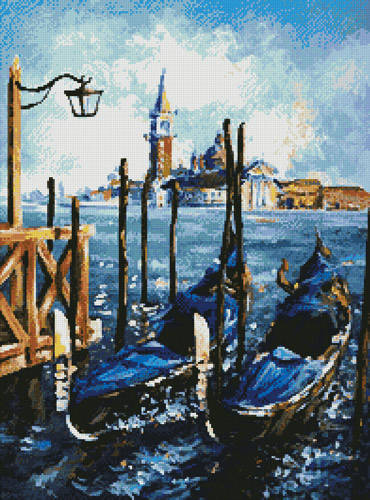 cross stitch pattern Gondolas in Venice