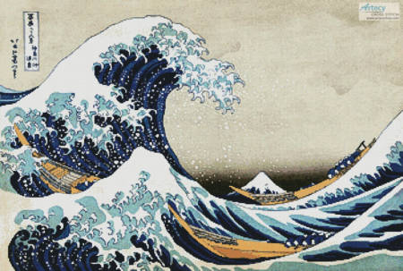 cross stitch pattern The Great Wave (Large)