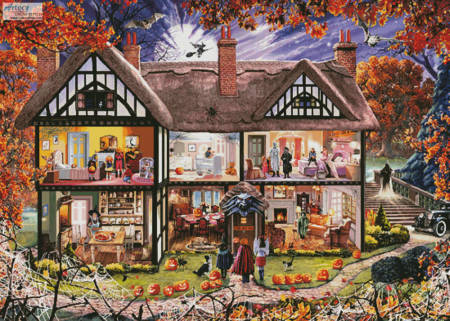 cross stitch pattern Halloween House Painting (Large)