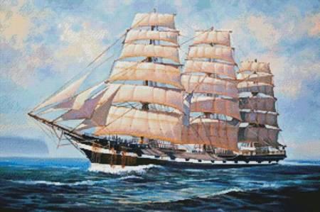 cross stitch pattern HMS Macquarie