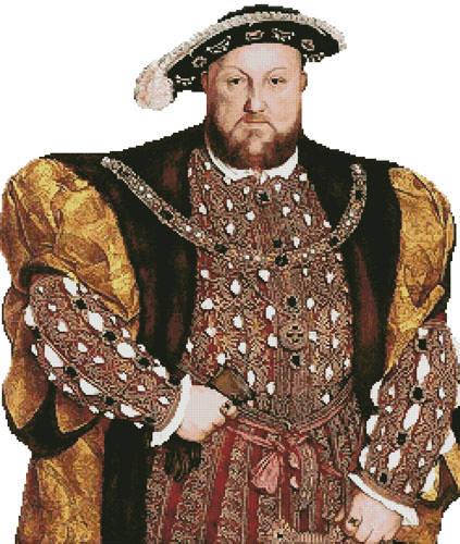 cross stitch pattern Henry the VIII (No Background)