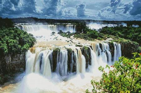 cross stitch pattern Iguazu Falls Photo