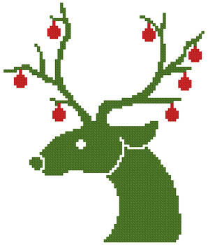 cross stitch pattern Little Christmas Reindeer