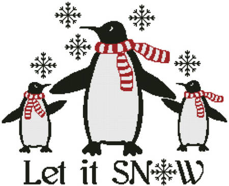 cross stitch pattern Let it Snow
