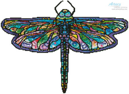 cross stitch pattern Mini Abstract Dragonfly (No Background)
