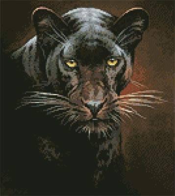 cross stitch pattern Mini Black Panther Portrait