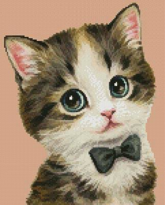 cross stitch pattern Mini Cat 67